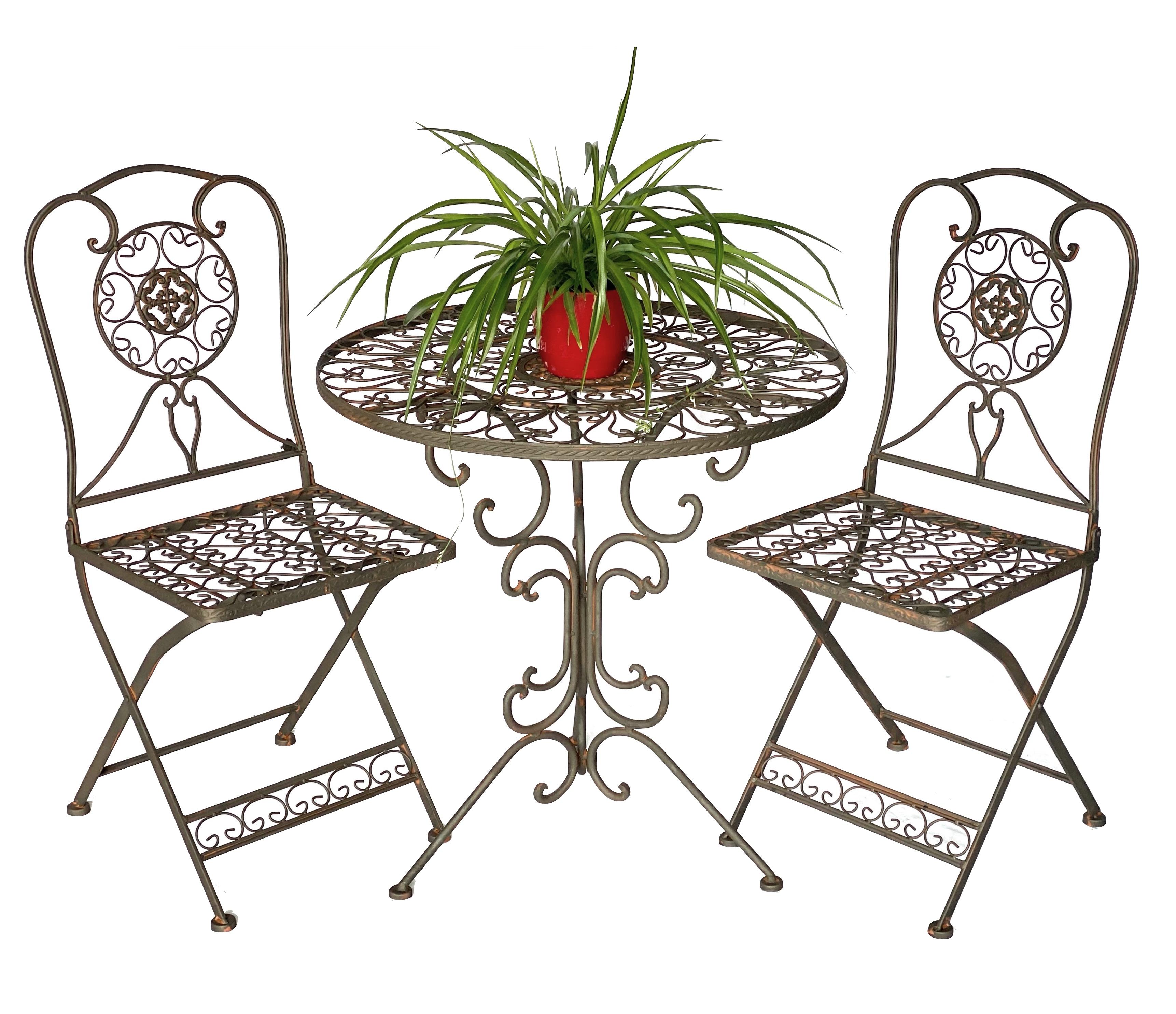 Tisch Mit 2 Stuhle Kolonialstil Schmiedeeisen Tecla Dandibo