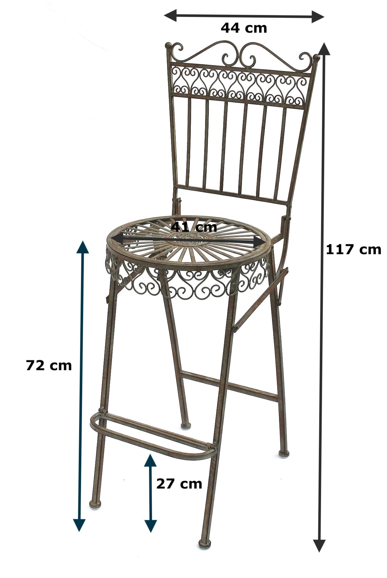DanDiBo Stehtisch + 2 Barhocker Set Metall 130414-15