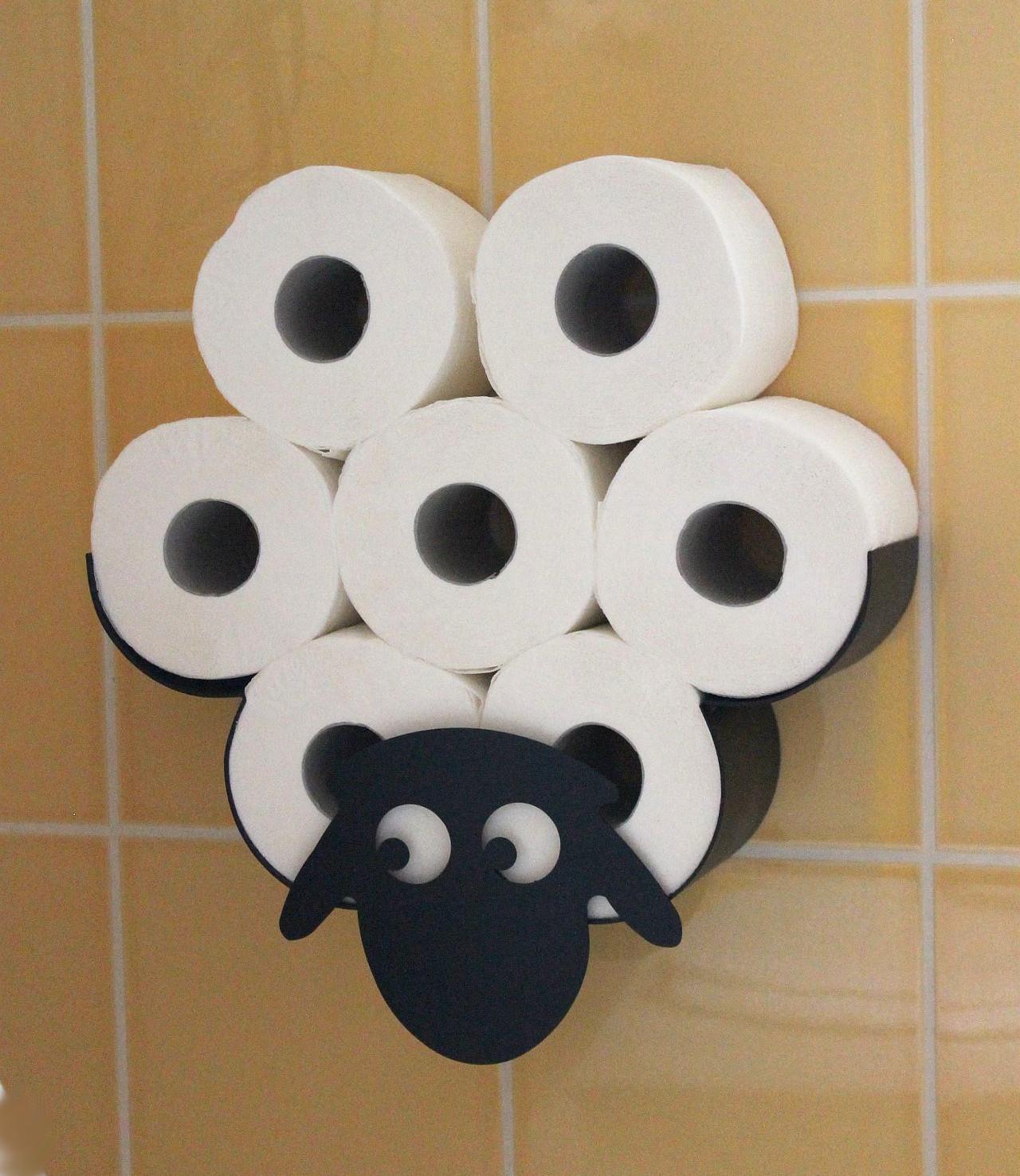 dandibo toilettenpapierhalter wandmontage schwarz metall schaf wc ersatzrollenhalter