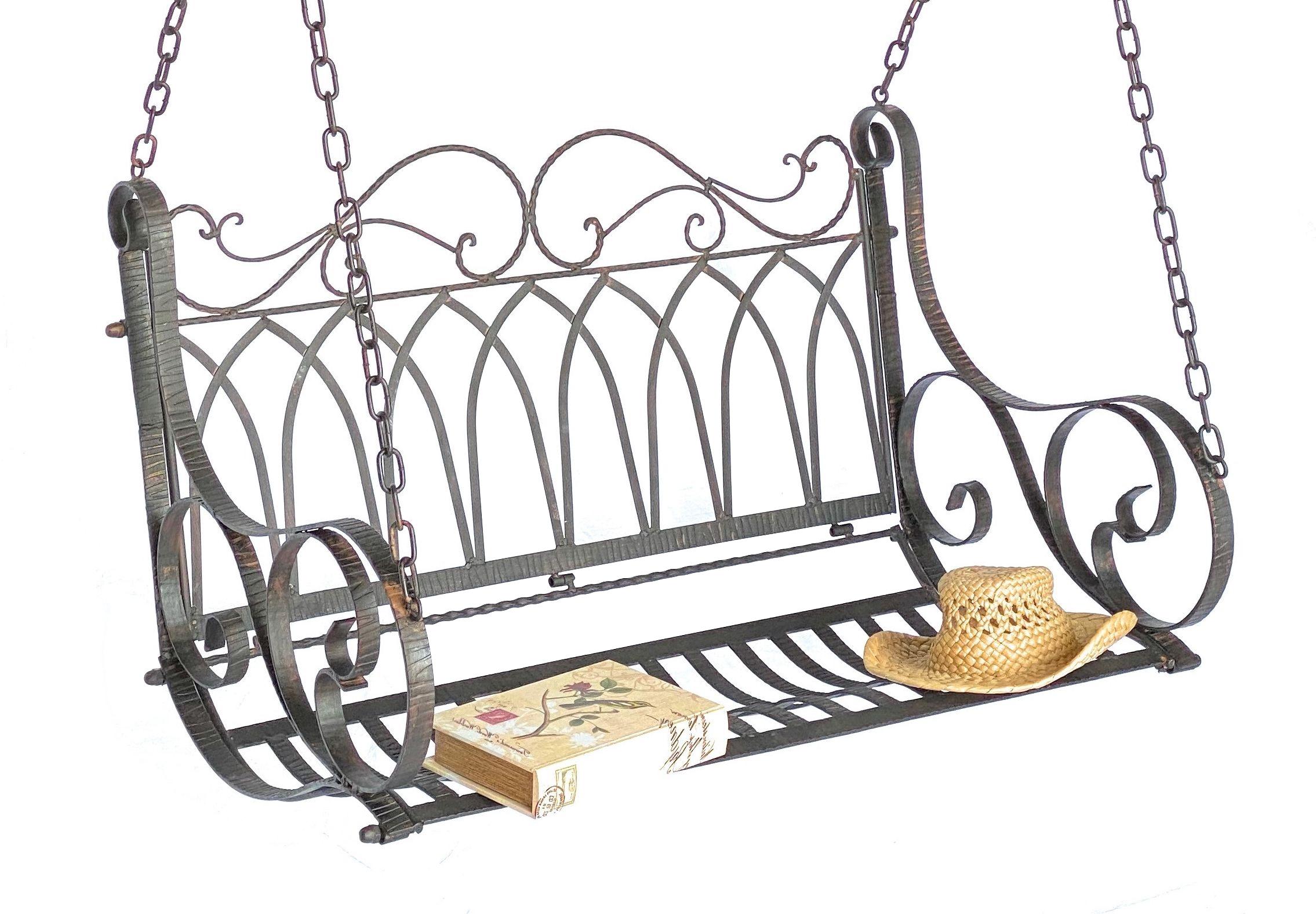 Schaukel Bank Hangebank Metall Schmiedeeisen Mit Ketten Dandibo