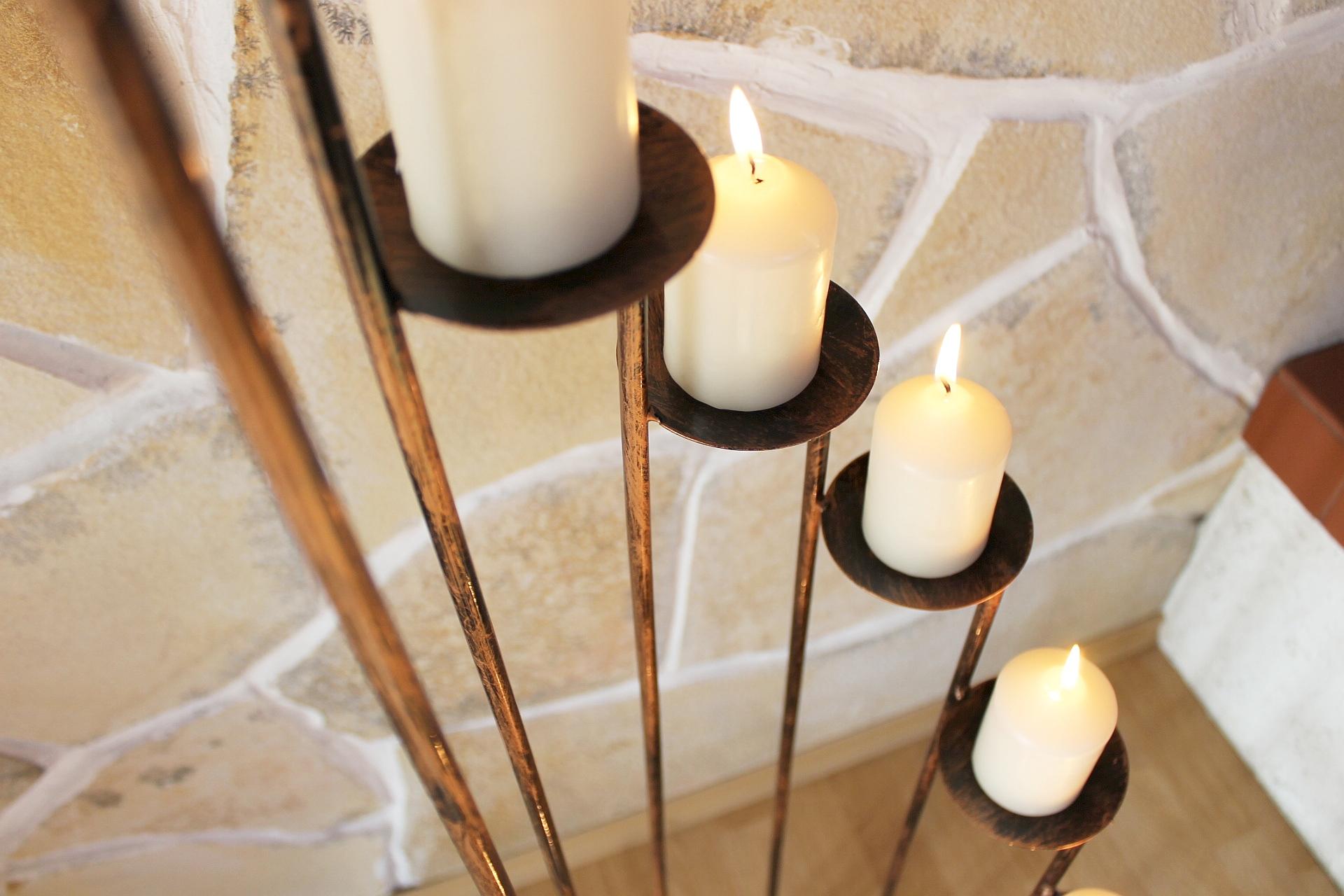 Kerzenständer art aus schmiedeeisen cm kerzenleuchter