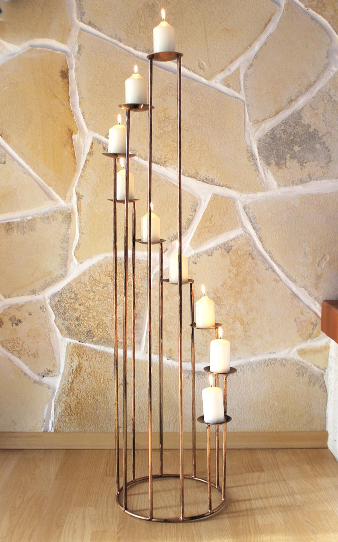 kerzenst nder aus schmiedeeisen 102cm kerzenleuchter kerzenhalter metall dandibo. Black Bedroom Furniture Sets. Home Design Ideas