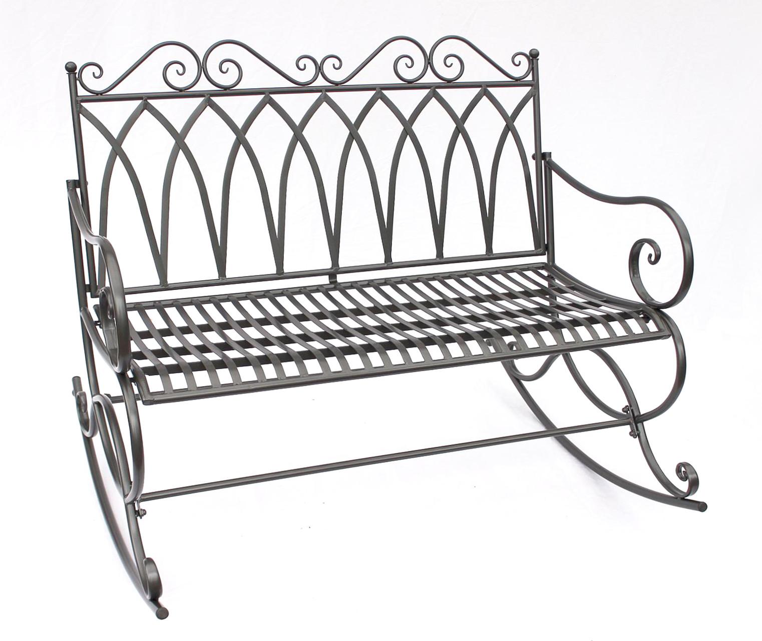 schaukelbank 132730 gartenbank aus metall bank 112cm. Black Bedroom Furniture Sets. Home Design Ideas