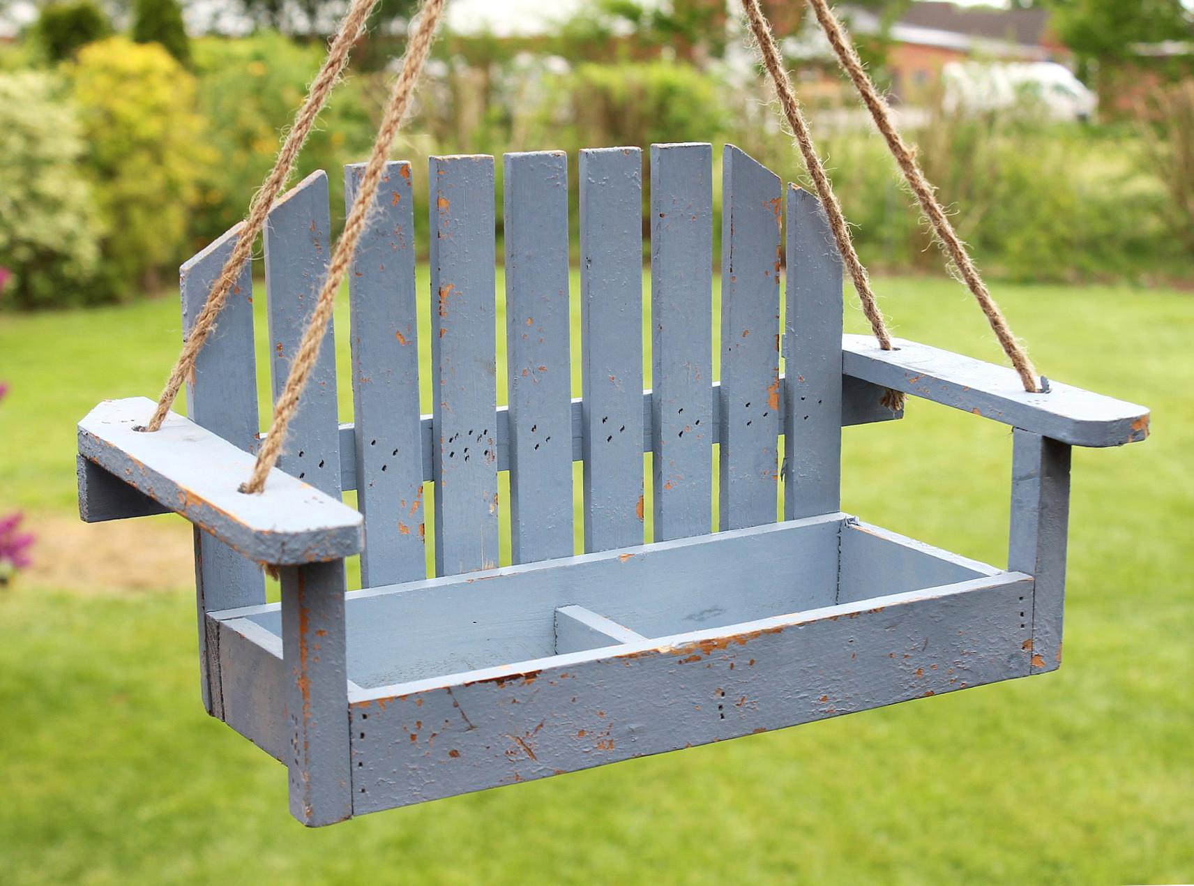 blumenampel schaukel 14b249 blau gartenschaukel 39cm. Black Bedroom Furniture Sets. Home Design Ideas