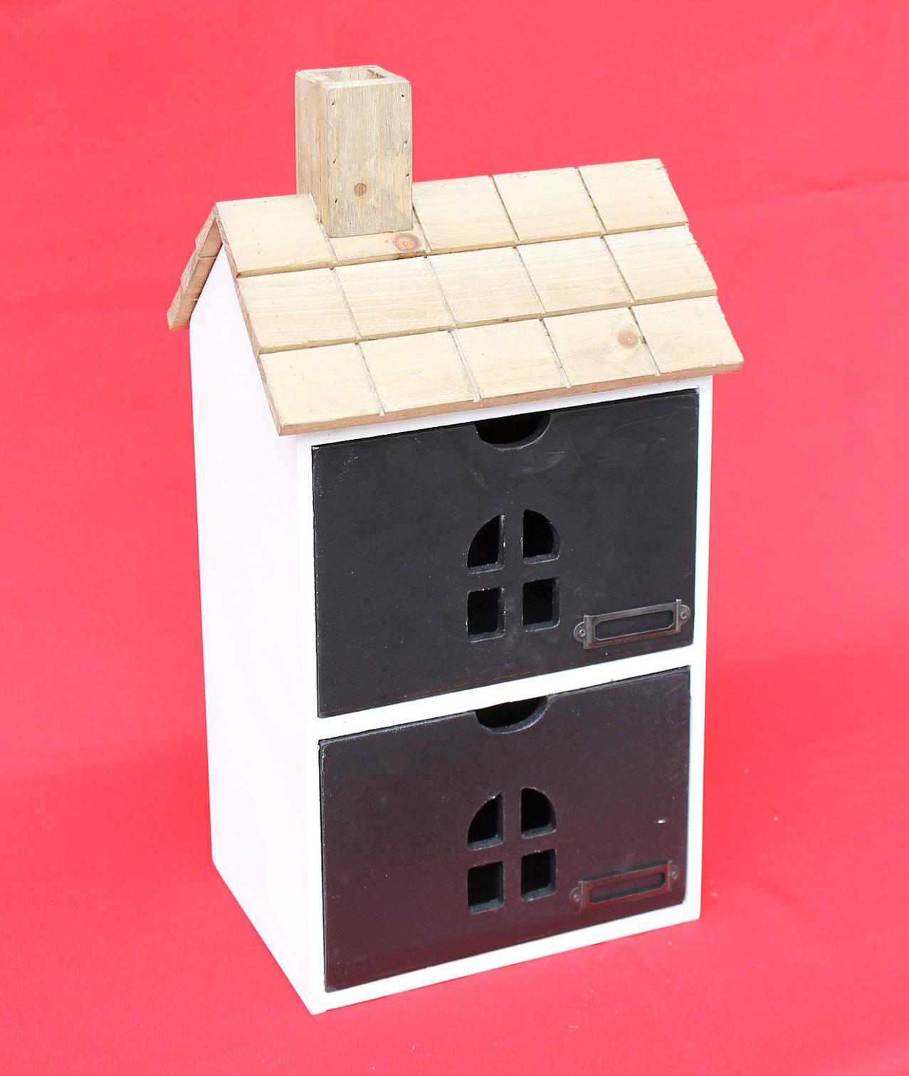 minikommode haus kommode 14b407 schrank mit 2 schubladen 43cm ordner k chenregal dandibo. Black Bedroom Furniture Sets. Home Design Ideas