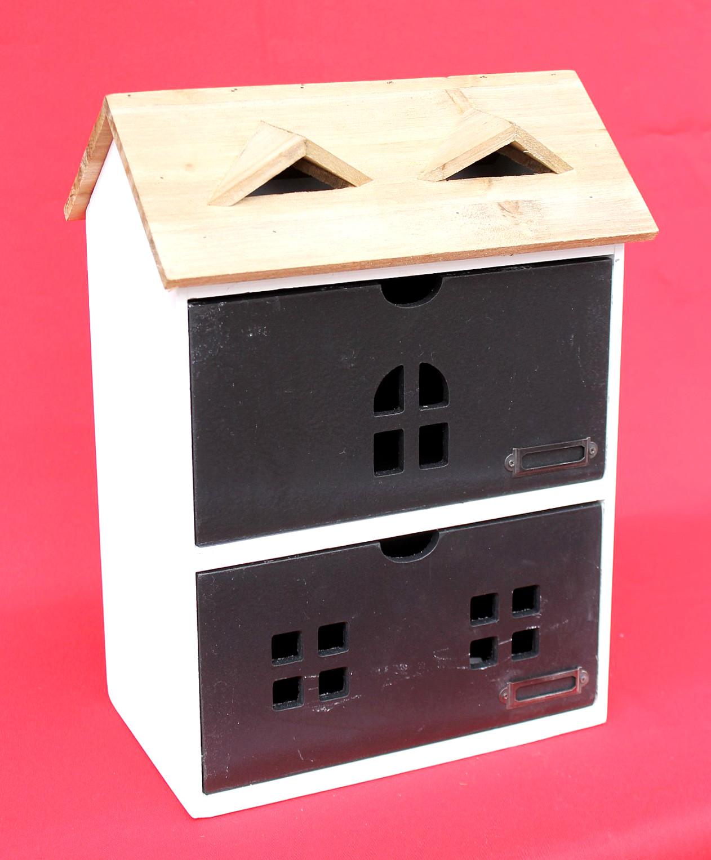 minikommode haus kommode 14b410 schrank mit 2 schubladen 38cm ordner k chenregal dandibo. Black Bedroom Furniture Sets. Home Design Ideas