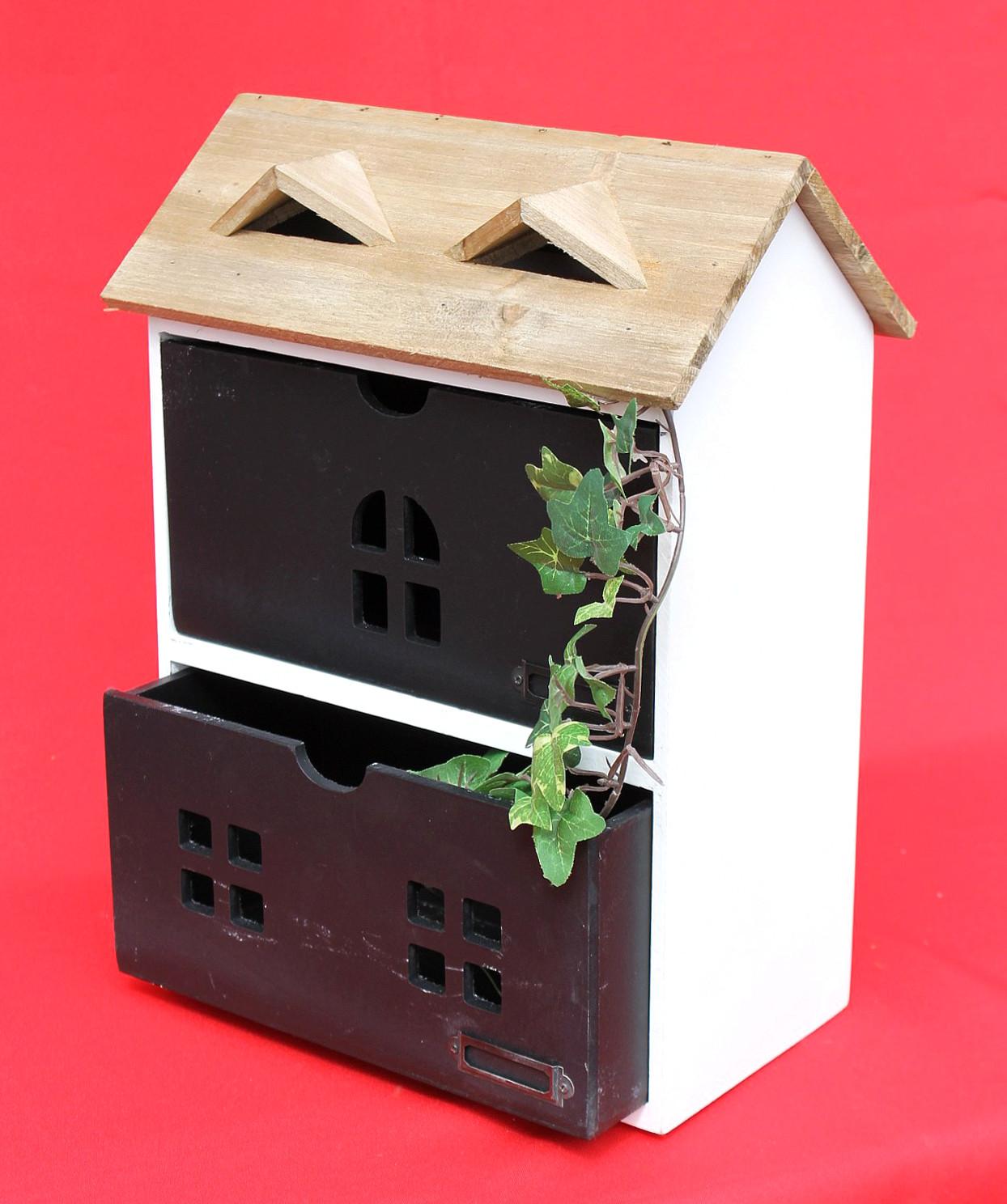minikommode haus kommode 14b410 schrank mit 2 schubladen. Black Bedroom Furniture Sets. Home Design Ideas