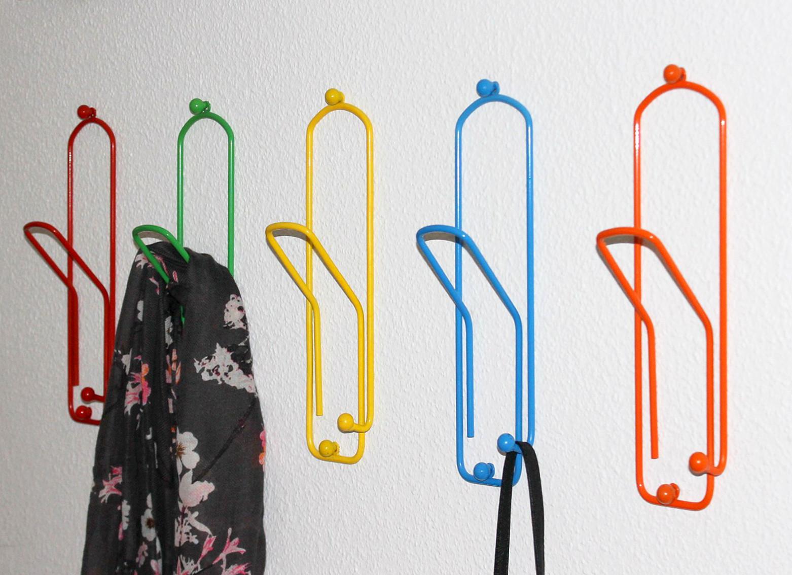 Kleiderhaken b roklammer set 5 stk wandgarderobe 32cm for Wandgarderobe set