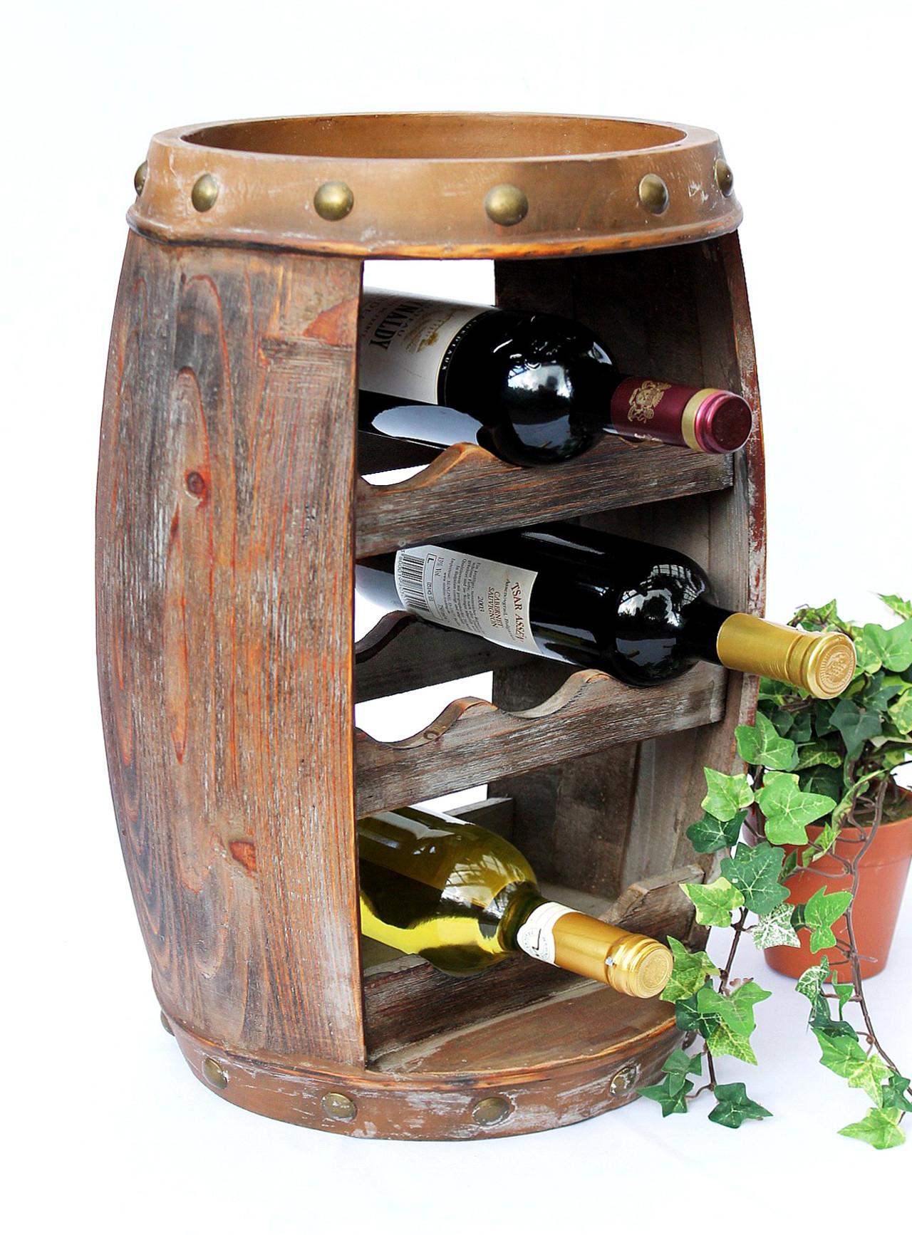 weinregal weinfass 1555 bar flaschenst nder 50cm f r 8 fl regal fass holzfass dandibo. Black Bedroom Furniture Sets. Home Design Ideas