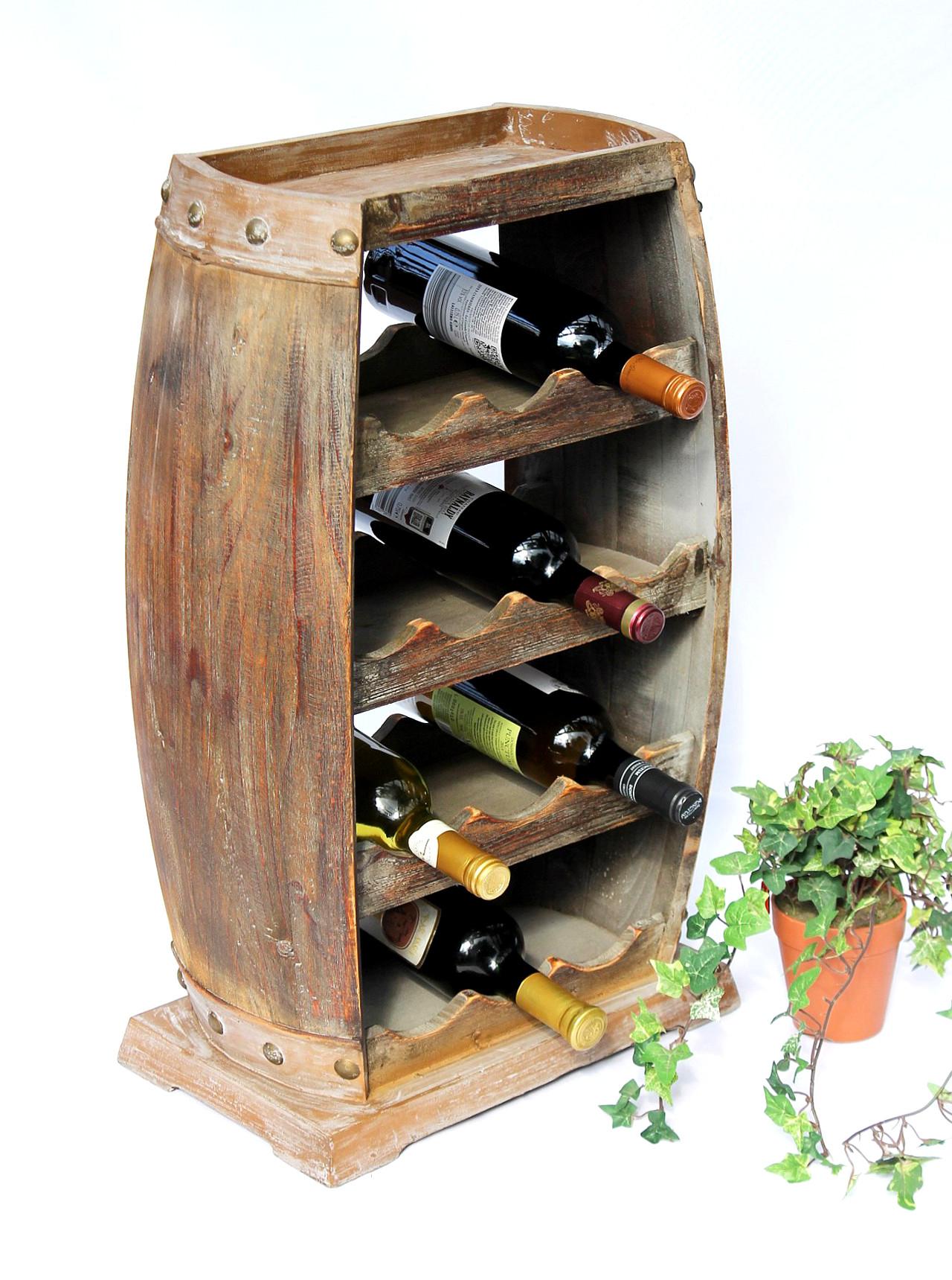Weinregal Weinfass 1549 Bar Flaschenständer 70cm für 13 Fl. Regal ...