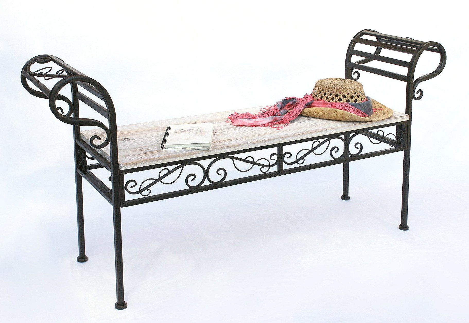gartenbank 19279 bank 133cm aus metall und holz sitzbank parkbank schmiedeeisen dandibo. Black Bedroom Furniture Sets. Home Design Ideas