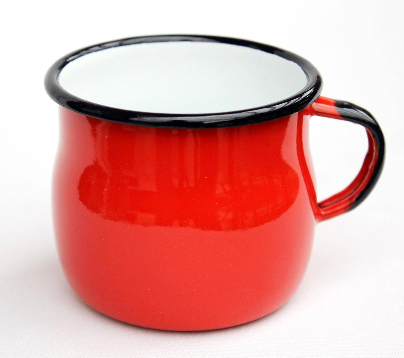 Was Ist Emaille emaille tasse 501w 7 rot becher emailliert 7 cm kaffeebecher