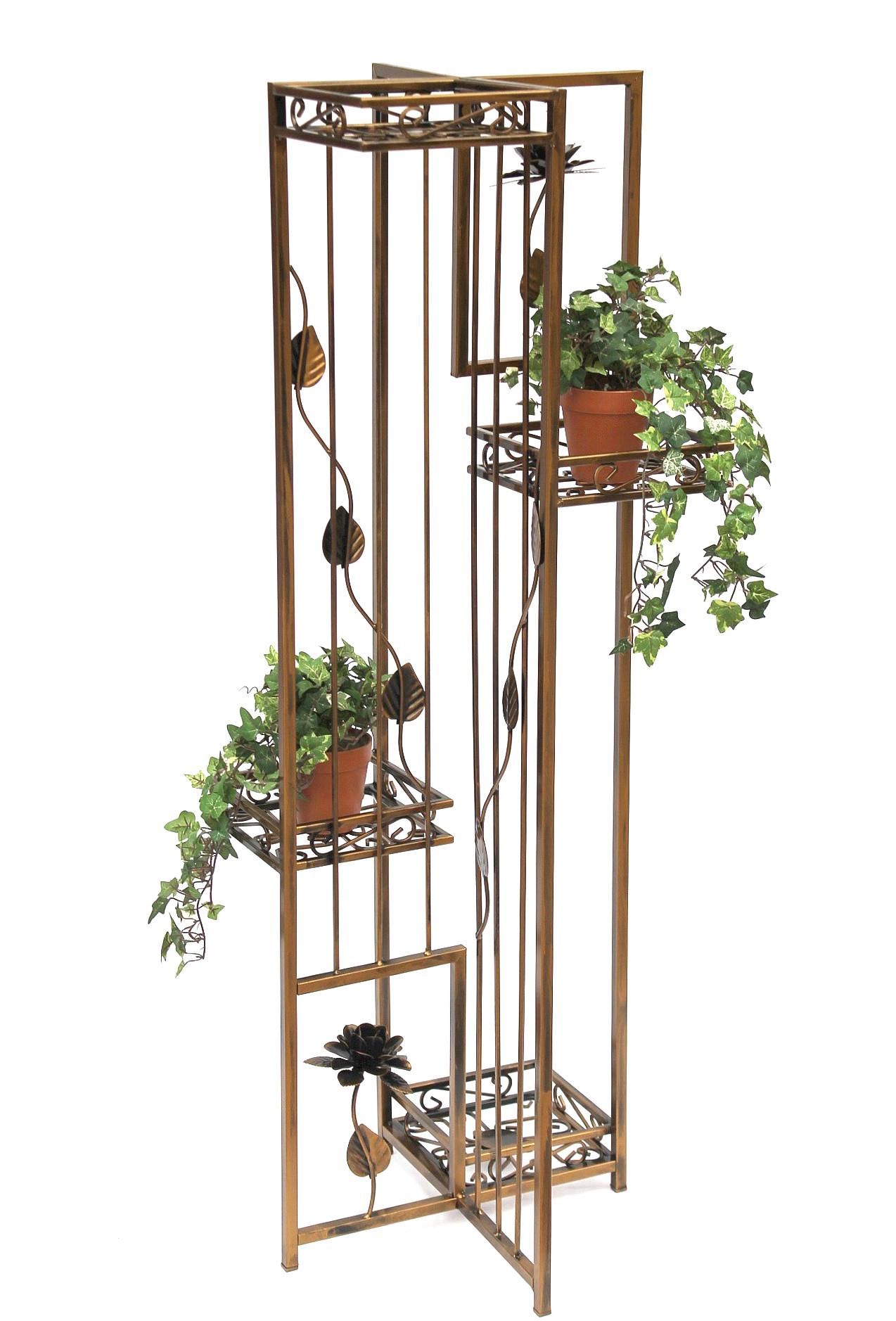 blumenregal blumentreppe sehr stabil und dekorativ aus metall geschmiedet und aufw ndig. Black Bedroom Furniture Sets. Home Design Ideas