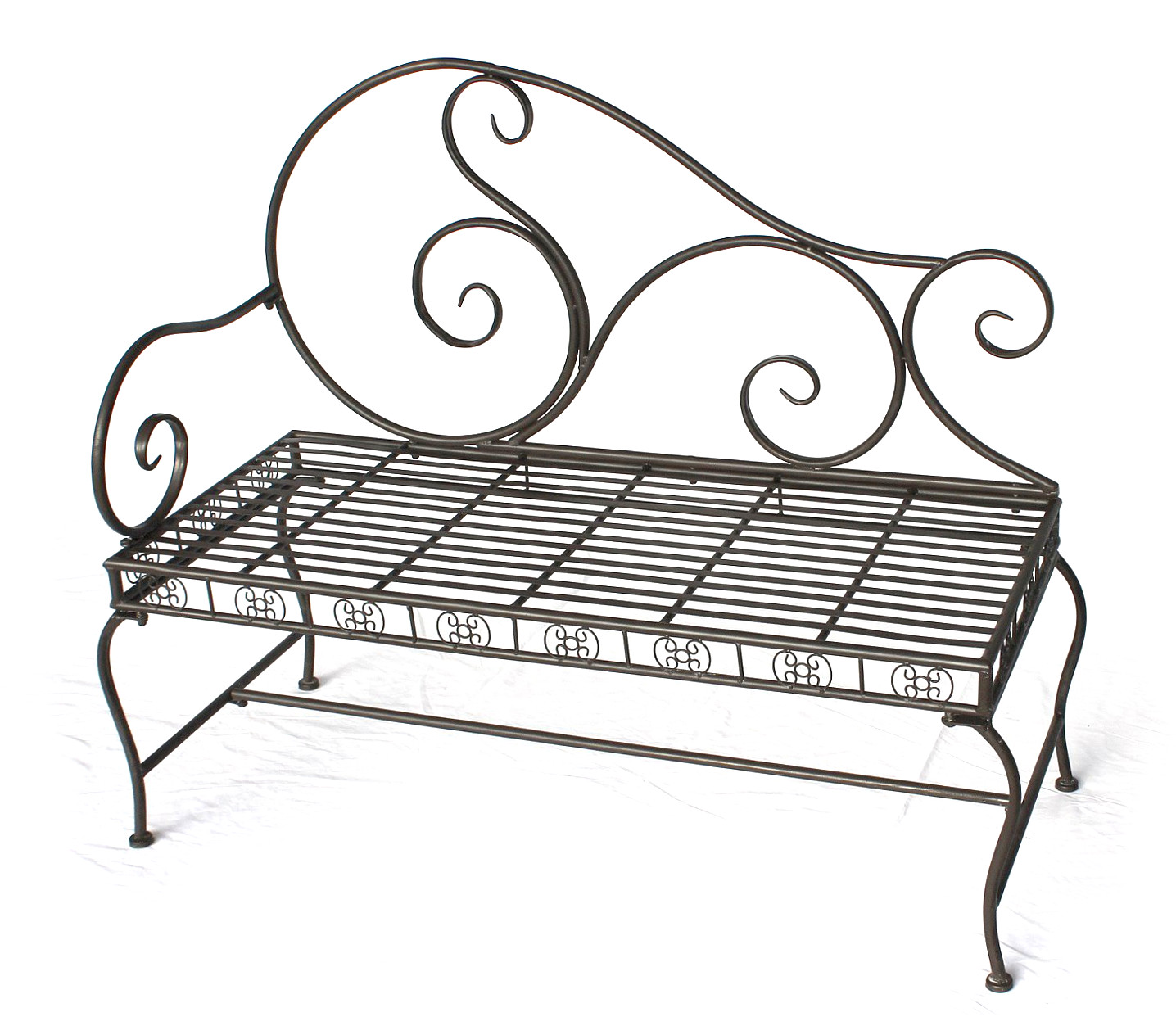 bank gartenbank aus metall wundersch ne gartendekoration. Black Bedroom Furniture Sets. Home Design Ideas