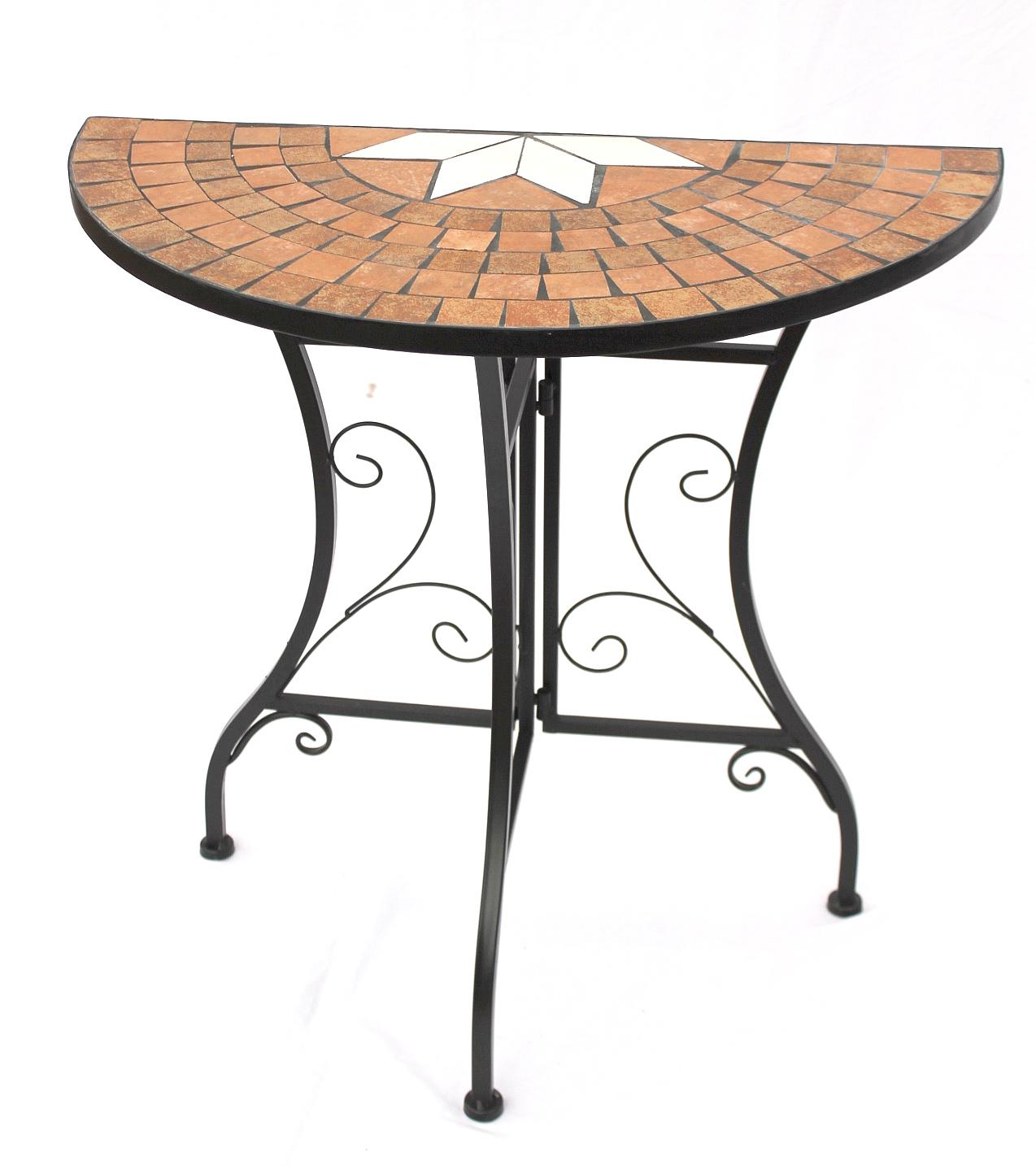 Metall tisch mosaik for Tisch marmoroptik