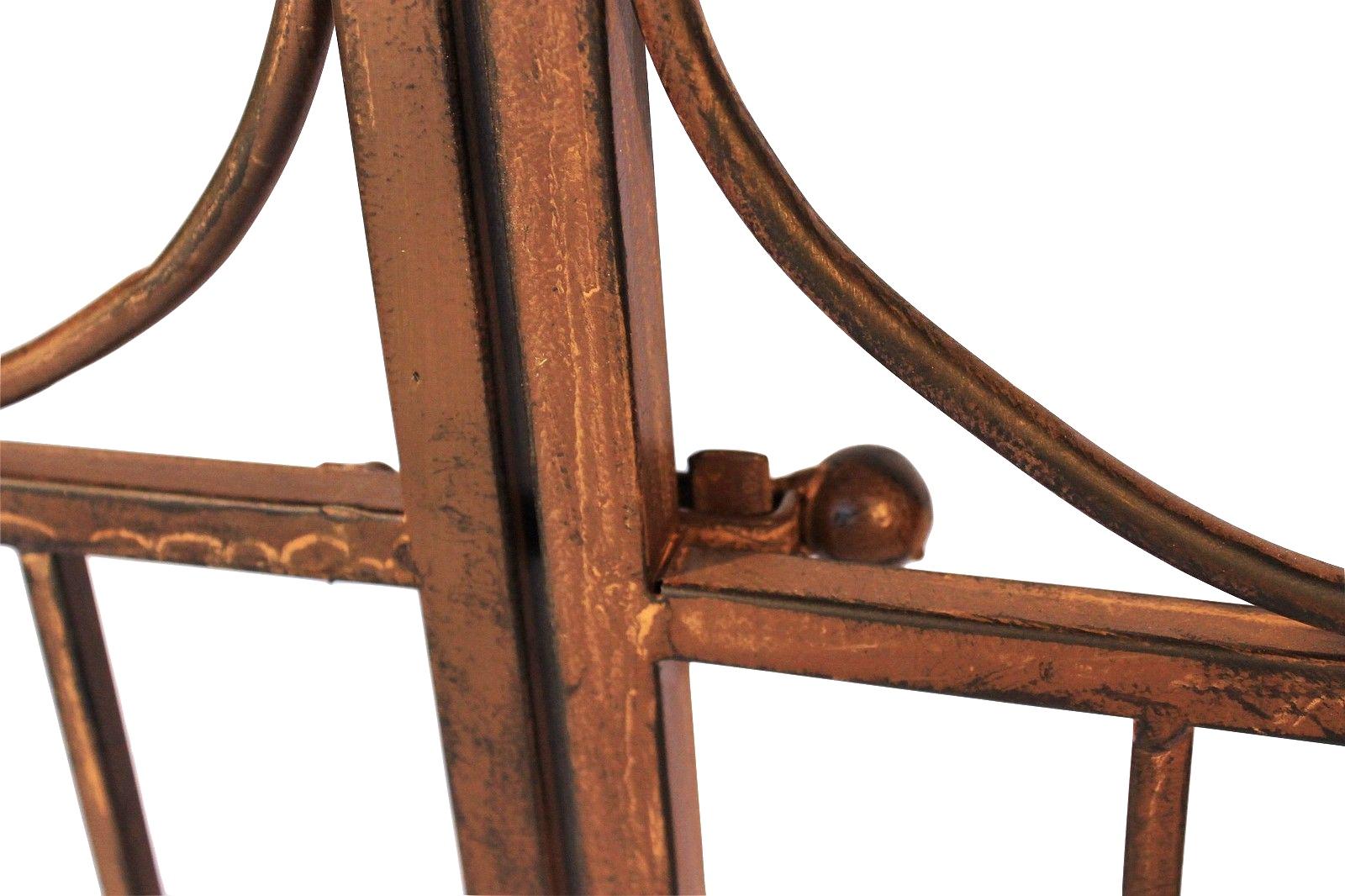 rosenbogen mit tor pforte 120853 aus metall schmiedeeisen 265x190 cm rankhilfe dandibo. Black Bedroom Furniture Sets. Home Design Ideas