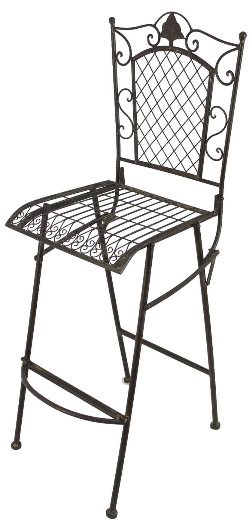 Barhocker klappstuhl 20833 aus metall hocker gartenstuhl hochstuhl sitzhocker dandibo - Klappstuhl garten metall ...