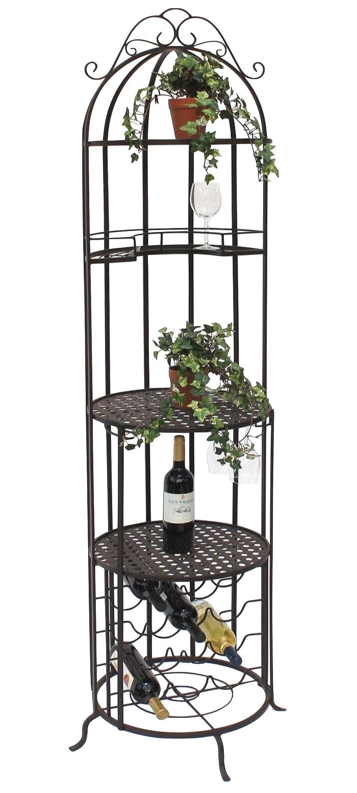 Dandibo Weinregal Metall Weinschrank Bar Weinbar Flaschenregal 196cm Hausbar 130067 Flaschenhalter Dandibo