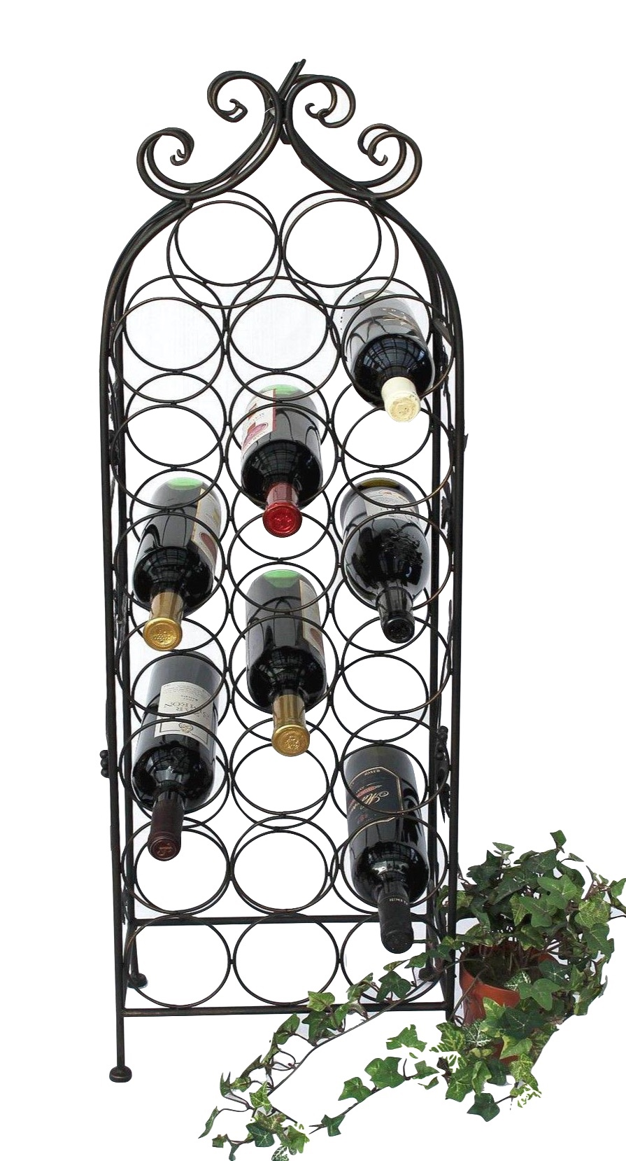 Weinregal Metall Schwarz 100 Cm Jd130665 Flaschenregal Flaschenhalter Weinstander Weinschrank Weinflaschenhalter Vintage Dandibo
