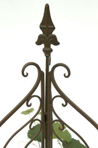 rankhilfe 120033 faltbar rankgitter aus metall h 132cm d 38cm kletterhilfe zaun dandibo. Black Bedroom Furniture Sets. Home Design Ideas