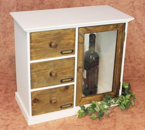 schrank minikommode 12019 k chenschrank regal 50cm shabby. Black Bedroom Furniture Sets. Home Design Ideas