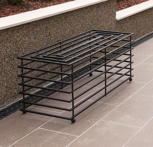 bank futura modern gartenbank 11670 sitzbank 110cm aus metall eisen blumenbank dandibo. Black Bedroom Furniture Sets. Home Design Ideas