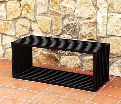 bank d stil modern gartenbank 11671 sitzbank 100cm aus metall eisen blumenbank dandibo. Black Bedroom Furniture Sets. Home Design Ideas