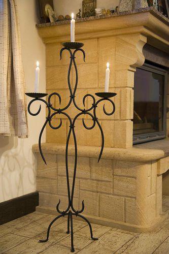 kerzenst nder artus 100cm schmiedeeisen 21216. Black Bedroom Furniture Sets. Home Design Ideas