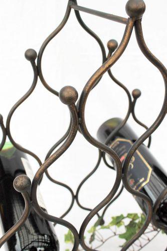 weinregal jd130406 aus metall f r 8 flaschen flaschenhalter 50cm flaschenregal dandibo. Black Bedroom Furniture Sets. Home Design Ideas