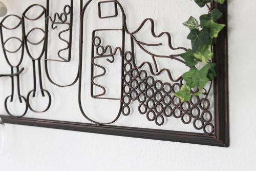 wandbild weinregal 091975 flaschenst nder metall 70cm. Black Bedroom Furniture Sets. Home Design Ideas