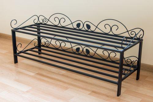 schuhregal mi 2 regal 92cm schuhschrank 21236 schuhablage metall schmiedeeisen dandibo. Black Bedroom Furniture Sets. Home Design Ideas