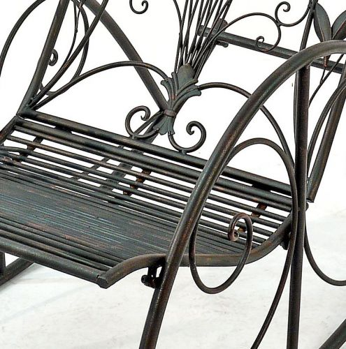 Schaukelstuhl relax liegestuhl aus metall sessel for Schaukelstuhl metall garten