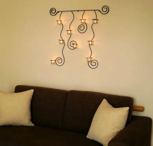 Wandteelichthalter lysa schwarz wandkerzenhalter metall 74cm teelichthalter dandibo - Wandkerzenhalter schwarz ...