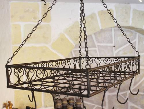 topfh nger cocina pfannenh nger 60cm deckenregal h ngeregal h nger wurstkrone dandibo. Black Bedroom Furniture Sets. Home Design Ideas
