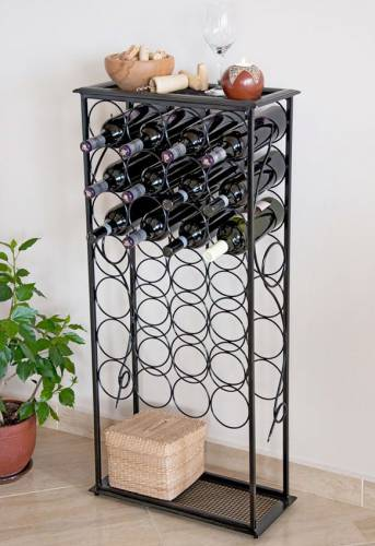 weinregal rico 100cm flaschenst nder aus metall f r 28 flasche dandibo. Black Bedroom Furniture Sets. Home Design Ideas