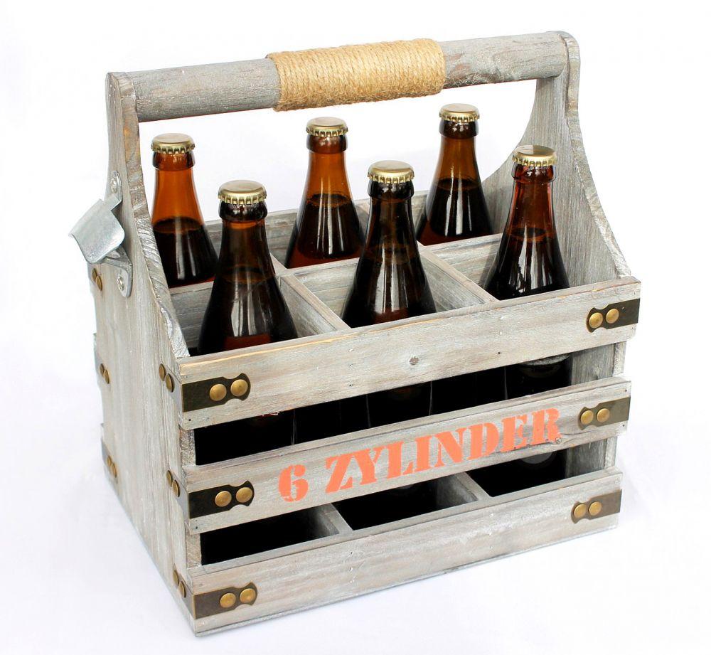 biertr ger mit flaschen ffner flaschentr ger 6 zylinder 93540 bierkiste aus holz 32cm dandibo. Black Bedroom Furniture Sets. Home Design Ideas