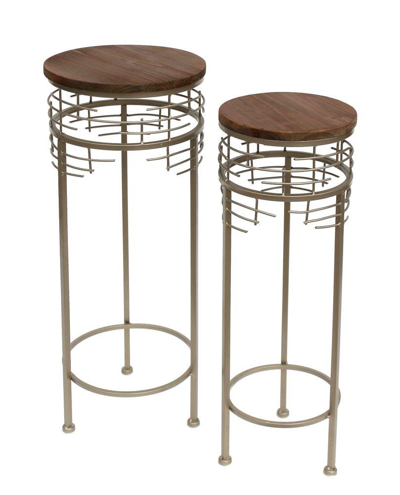 blumenhocker metall 21288 2er set blumenst nder rund beistelltisch modern dandibo ambiente. Black Bedroom Furniture Sets. Home Design Ideas
