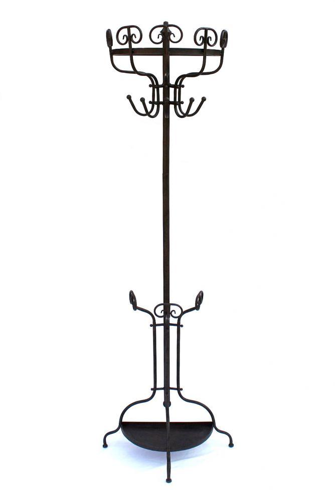 garderobe halbrund 95305 wandgarderobe 175 cm braun