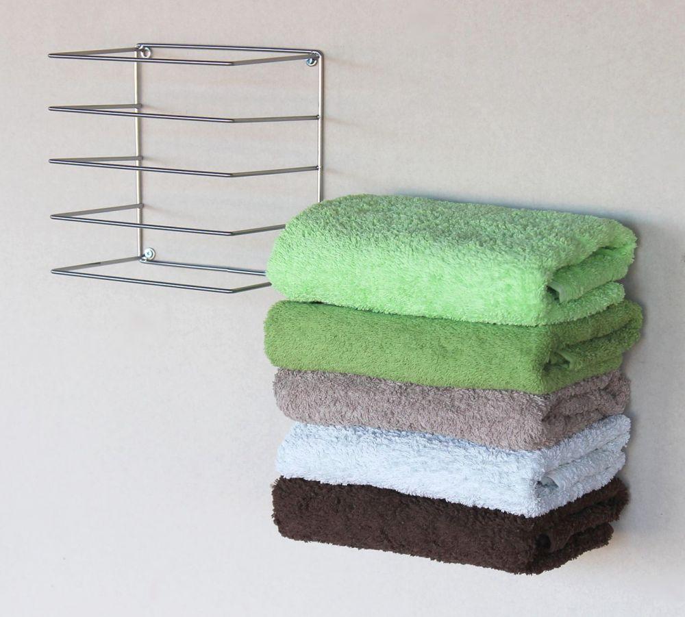 DanDiBo Handtuchhalter Chrome Wand Handtuchregal zur