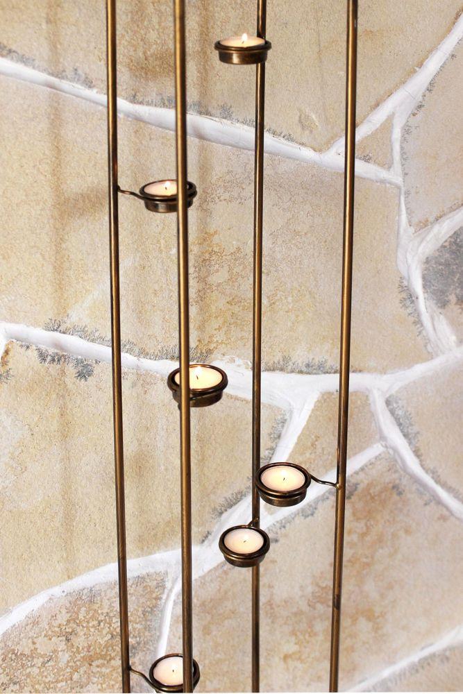lichts ule 10 768 teelichthalter 132cm teelicht st nder f r 9 teelichter kerzenhalter dandibo. Black Bedroom Furniture Sets. Home Design Ideas