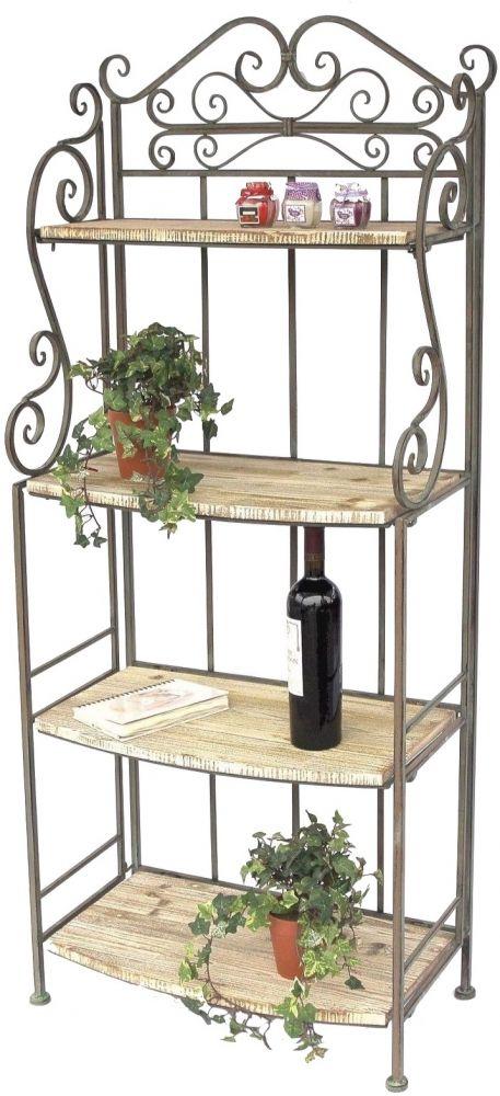 regal malega 12060 aus metall und holz 150cm b cherregal badregal k chenregal dandibo. Black Bedroom Furniture Sets. Home Design Ideas