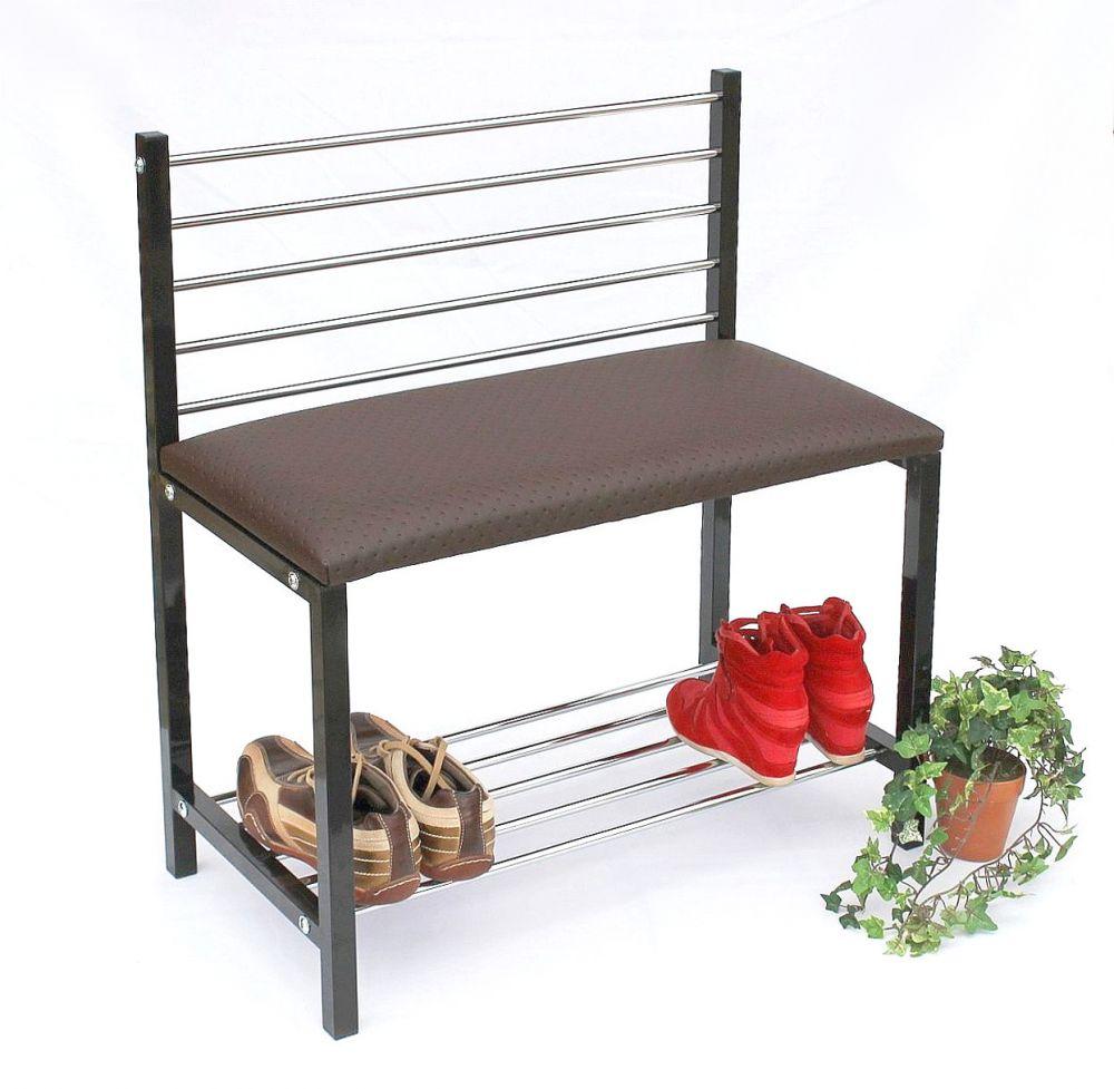 schuhregal mit sitzbank bank 70cm schuhschrank aus metall schuhablage dandibo. Black Bedroom Furniture Sets. Home Design Ideas