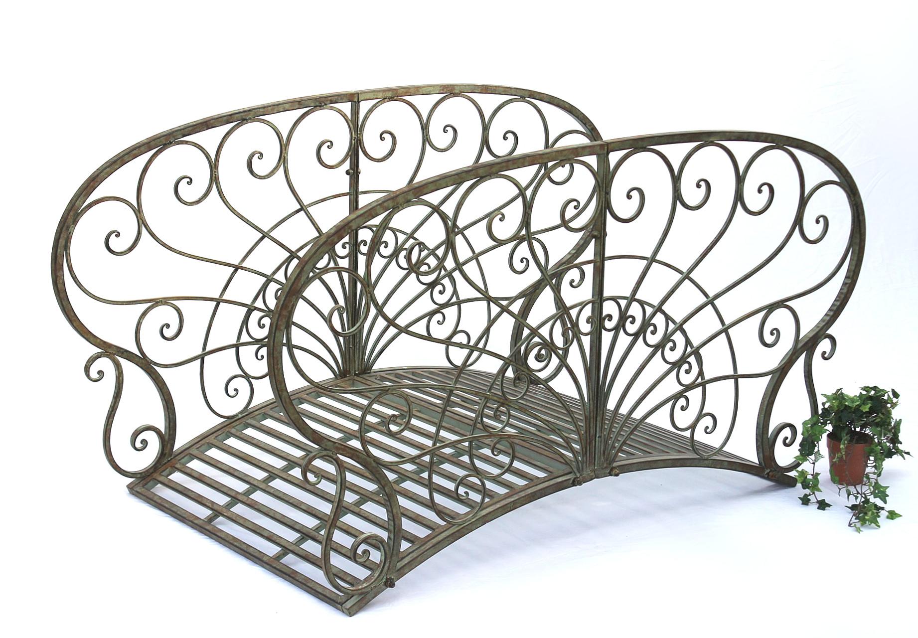 br cke aus metall jc150106 gartenbr cke 150cm metallbr cke teichbr cke steg ebay. Black Bedroom Furniture Sets. Home Design Ideas