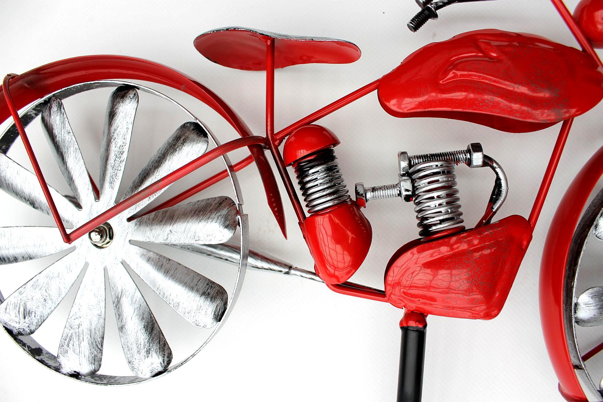 Moulin à vent métal Carillon Vélo Métal éolienne Bicylce Red Gartendeko