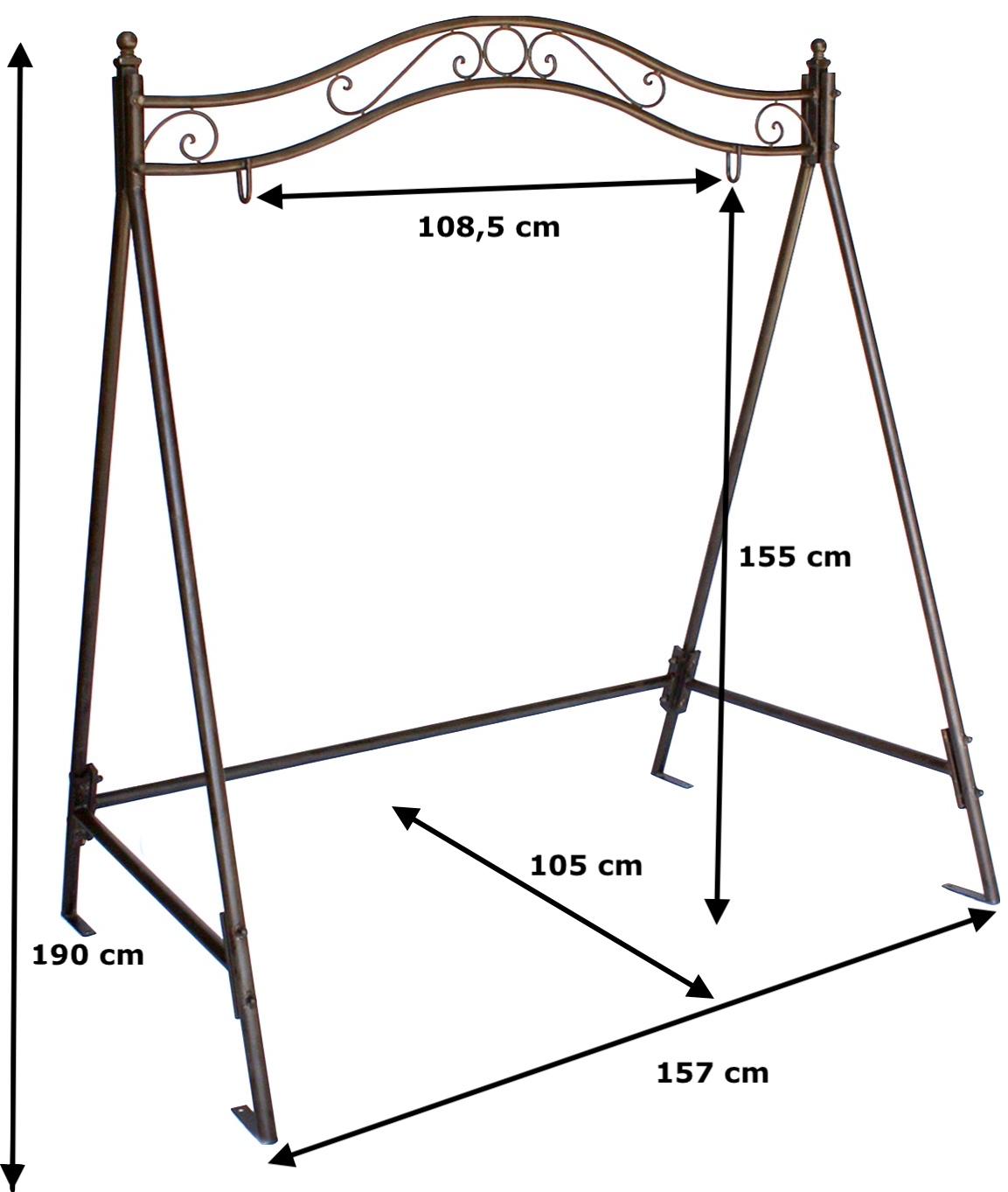 gestell f r schaukel 082505 hollywoodschaukel aus eisen. Black Bedroom Furniture Sets. Home Design Ideas
