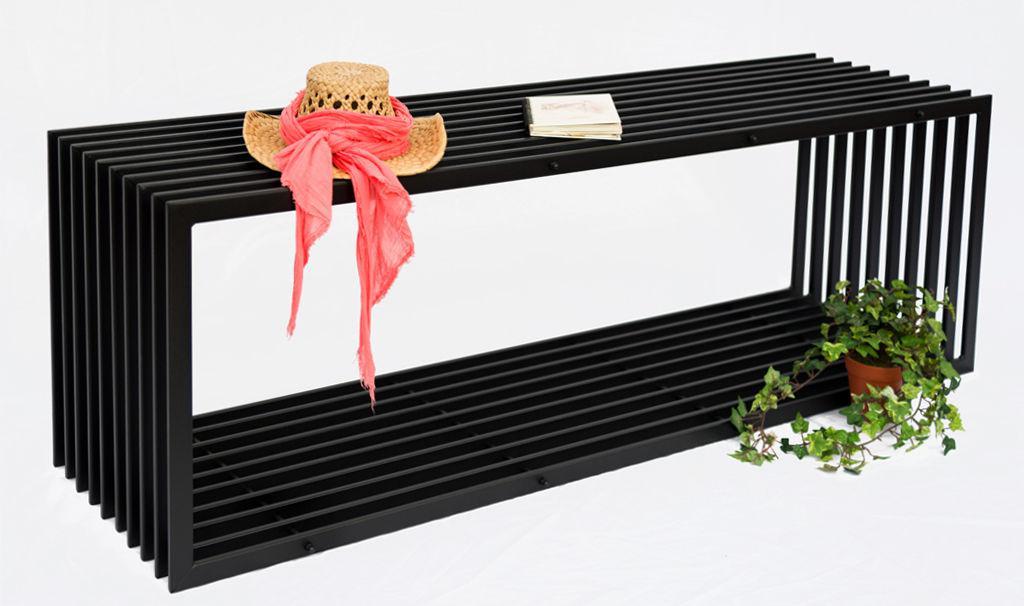 bank d stil 150 cm modern gartenbank 10103 sitzbank aus metall eisen blumenbank ebay. Black Bedroom Furniture Sets. Home Design Ideas
