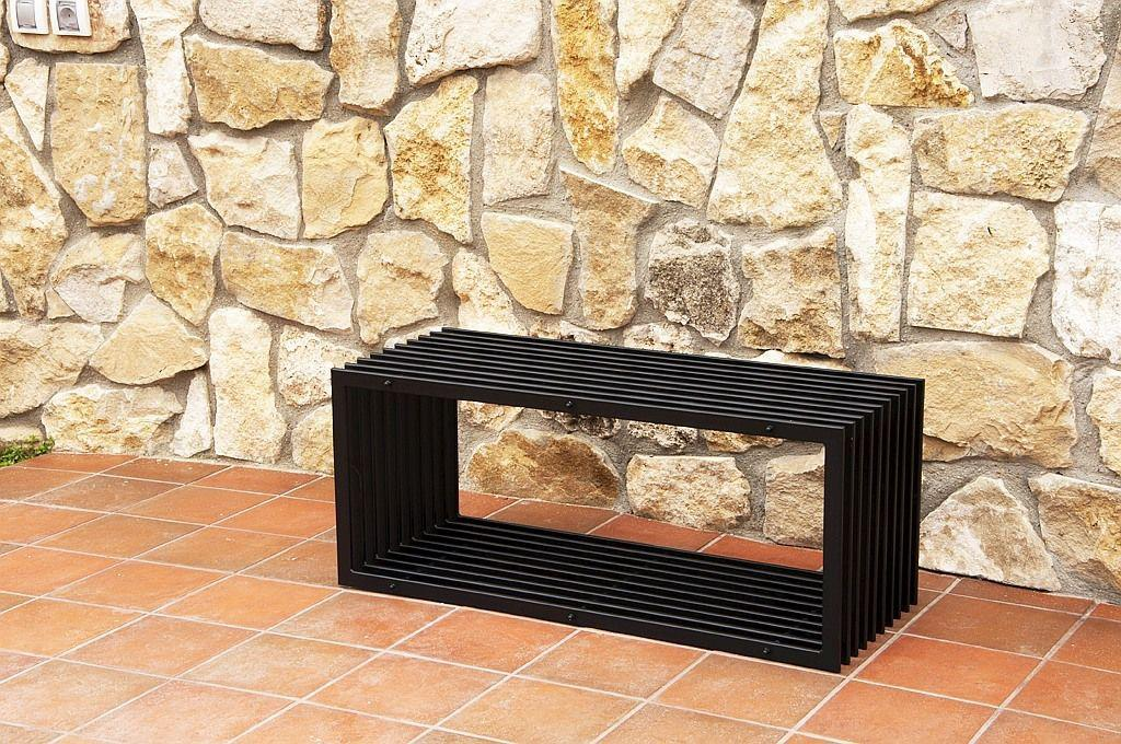 bank d stil modern gartenbank 11671 sitzbank 100 cm aus metall eisen blumenbank ebay. Black Bedroom Furniture Sets. Home Design Ideas