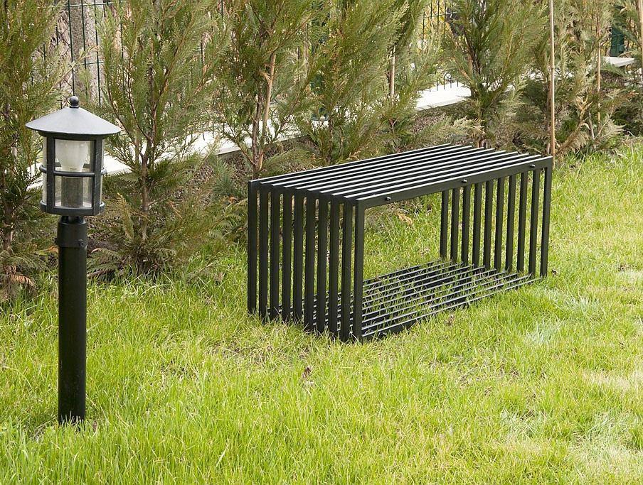 Gartenbank modern  Bank D-Stil Modern Gartenbank 11671 Sitzbank 100 cm aus Metall ...