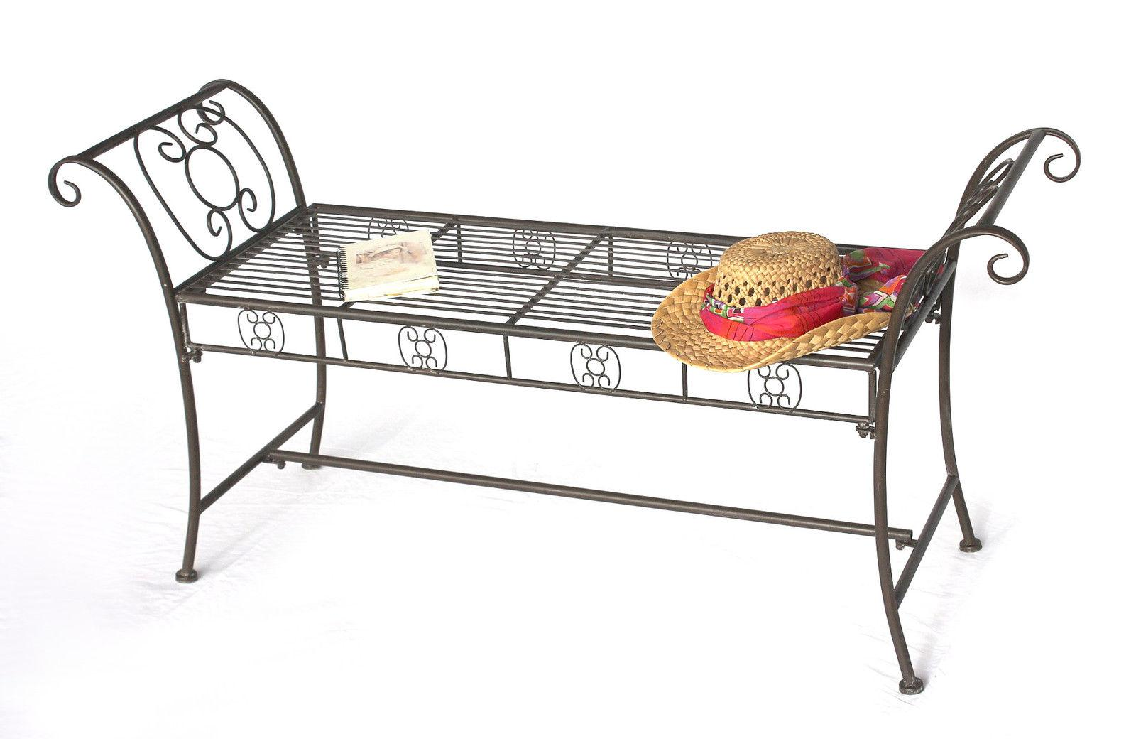 bank dy140491 aus metall gartenbank sitzbank 2 sitzer 138 cm rundbank parkbank ebay. Black Bedroom Furniture Sets. Home Design Ideas