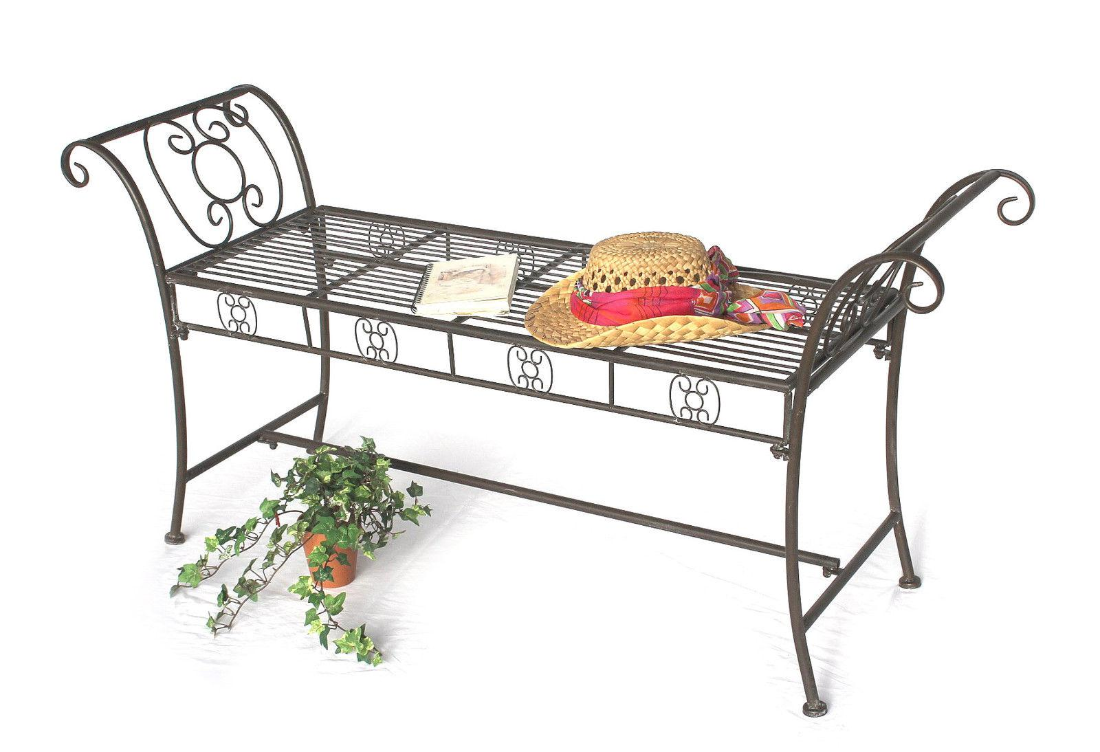 bank dy140491 aus metall gartenbank sitzbank 2 sitzer 138 cm rundbank parkbank ebay. Black Bedroom Furniture Sets. Home Design Ideas